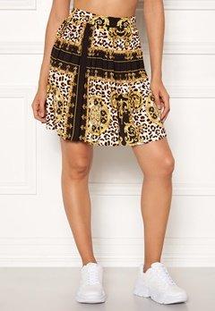 Rut & Circle Nicole Pleated Skirt Yellow Print Bubbleroom.dk