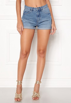 VERO MODA Nineteen HW Loose Shorts Light Blue Denim Bubbleroom.dk
