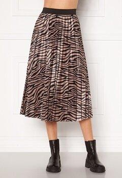 VILA Nitban Print Skirt Nomad Zebra Bubbleroom.dk