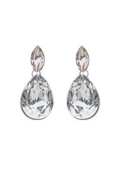 SNÖ of Sweden Noemi Small Drop Earrings Silver/Mix5 Bubbleroom.dk