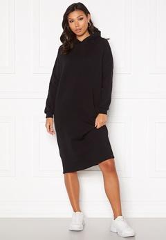 Noisy May Helene L/S Sweat Dress Black Bubbleroom.dk