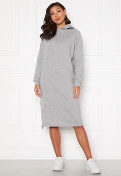 Noisy May Helene L/S Sweat Dress Light Grey Melange Bubbleroom.dk