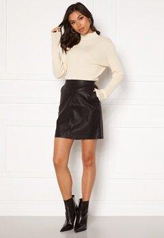 Noisy May Kelly NW PU Skirt Black Bubbleroom.dk