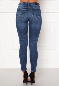 Noisy May Kimmy NW Ankle Jeans Medium Blue Denim Bubbleroom.dk