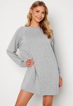 Noisy May Lupa L/S Sweat Dress Ligth Grey Melange Bubbleroom.dk