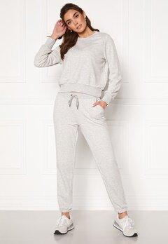 Noisy May Lupa NW Logo Pant Ligth Grey Melange Bubbleroom.dk