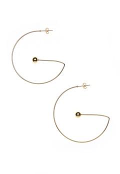 NORR by Erbs Virva Earrings Large Gold Bubbleroom.dk