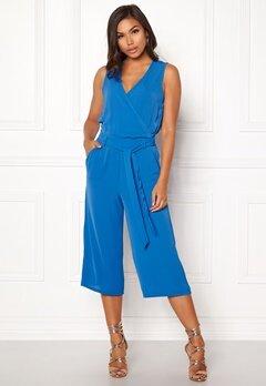 ONLY Nova S/L Wrap Jumpsuit Palace Blue Bubbleroom.dk