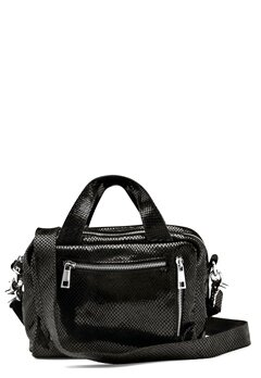 Nunoo Donna Snake Leather Bag Black w.Diamonds Bubbleroom.dk