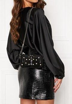 Nunoo Helena Flash Leather Bag Black w.Diamonds Bubbleroom.dk