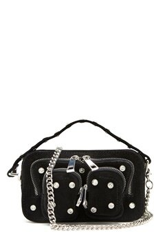 Nunoo Helena Flash Leather Bag Black w.Diamonds Bubbleroom.dk