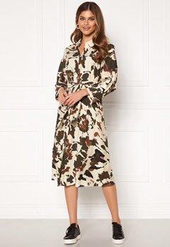 OBJECT Alika L/S Shirt Dress Sandshell AOP Bubbleroom.dk