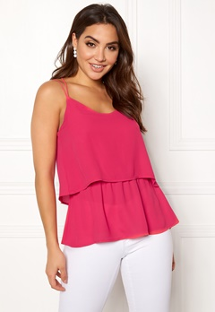 OBJECT Aniston S/L Top Bright Rose Bubbleroom.dk