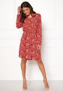 OBJECT Apala L/S Shirt Dress Haute Red Bubbleroom.dk