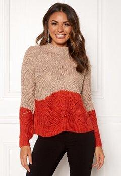 OBJECT Aya Love LS Knit Pullover Misty Rose Bubbleroom.dk