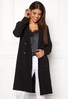 OBJECT Beau Long Coat Black Bubbleroom.dk