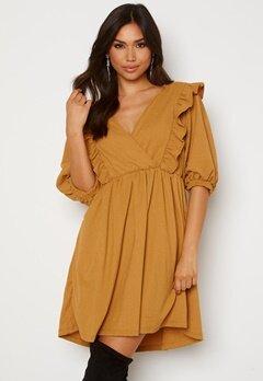 OBJECT Carolyn S/S Dress Honey Mustard Bubbleroom.dk