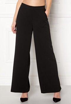 OBJECT Cecilie Wide Leg Pant Black Bubbleroom.dk