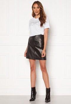 OBJECT Chloe Leather Skirt Black Bubbleroom.dk