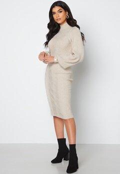 Object Collectors Item Makenzy Knit Dress Silver Gray bubbleroom.dk