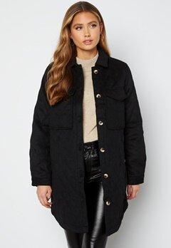 Object Collectors Item Vera owen long quilt jacket Black bubbleroom.dk