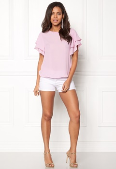 OBJECT Crystal S/S Top Pink Nectar Bubbleroom.dk