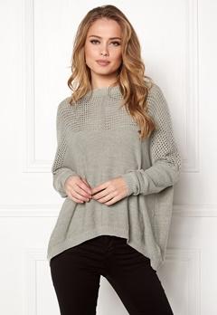 OBJECT Darren L/S Knit Pullover Light Grey Melange Bubbleroom.dk