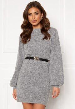 OBJECT Eve Nonsia Knit Dress Light Grey Melange Bubbleroom.dk