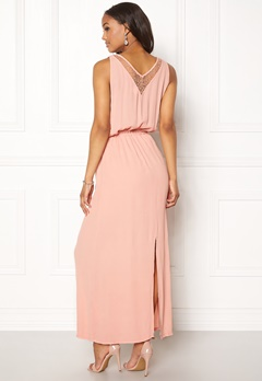 OBJECT Josephine s/l Maxi Dress Misty Rose Bubbleroom.dk