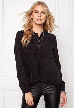 OBJECT Kanoa Cupro L/S Shirt Black Bubbleroom.dk