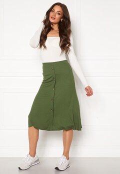 OBJECT Kay Maxi Skirt Burnt Olive Bubbleroom.dk