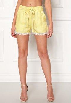 OBJECT Lemony Alena Shorts Neon Yellow Bubbleroom.dk
