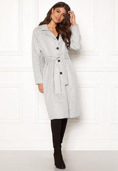 OBJECT Lena Coat Light Grey Melange Bubbleroom.dk