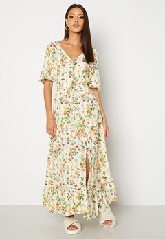 OBJECT Lorena S/S Long Dress Sandshell Bubbleroom.dk