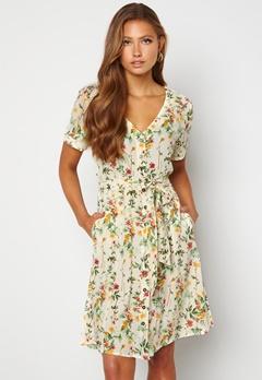 OBJECT Lorena S/S Short Dress Sandshell Bubbleroom.dk