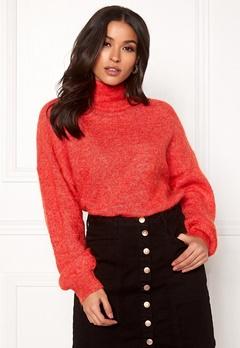 OBJECT Maryam Nete L/S Knit Fiery Red Bubbleroom.dk
