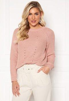 OBJECT Maya L/S Knit Pullover Misty Rose Bubbleroom.dk