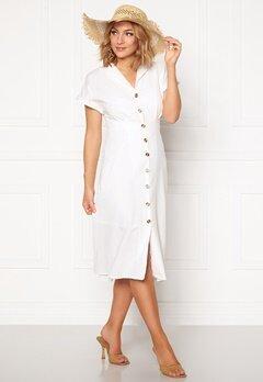 OBJECT Nana S/S Long Dress Gardenia Bubbleroom.dk