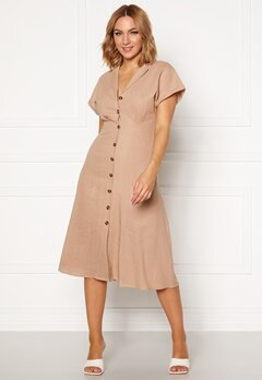 OBJECT Nana S/S Long Dress Humus Bubbleroom.dk