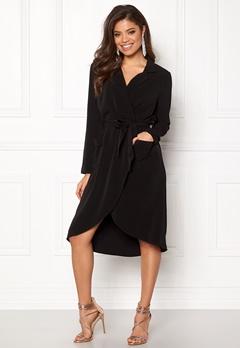 OBJECT Nell L/S Long Dress Black Bubbleroom.dk
