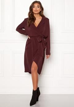 OBJECT Nell L/S Long Dress Chocolate Truffle Bubbleroom.dk