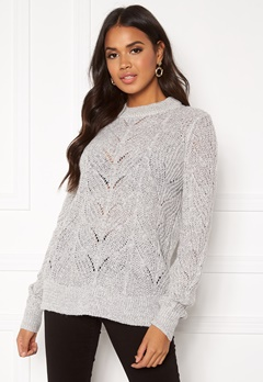 OBJECT Nova Stella Knit Light Grey Melange Bubbleroom.dk