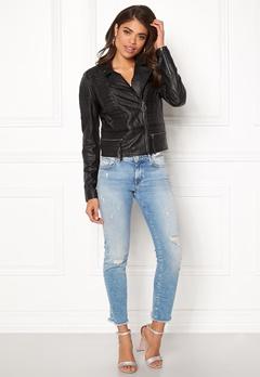 OBJECT Rake Leather Jacket Black Bubbleroom.dk