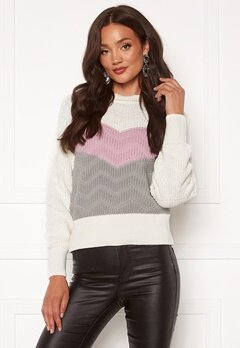 OBJECT Rosa L/S Knit Pullover Winsome Orchid Strip Bubbleroom.dk