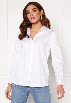 OBJECT Roxa L/S Loose Shirt White Bubbleroom.dk