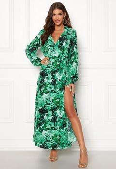 OBJECT Sana L/S Dress Fern Green Bubbleroom.dk