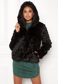 OBJECT Sandie Faux Fur Jacket Black Bubbleroom.dk