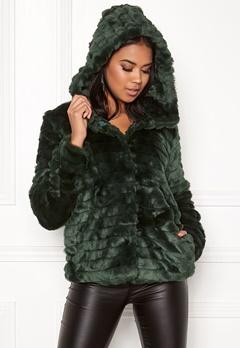 OBJECT Sandie Faux Fur Jacket Pine Grove Bubbleroom.dk