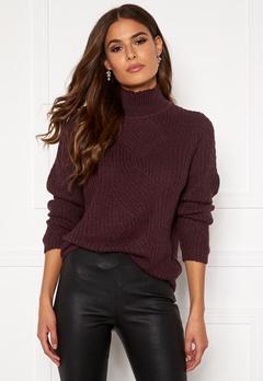 OBJECT Shiloh L/S Knit Pullover Port Royale Bubbleroom.dk