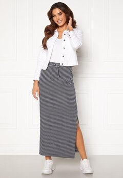 OBJECT Stephanie Maxi Skirt White Stripes Sky Ca<br>  Bubbleroom.dk